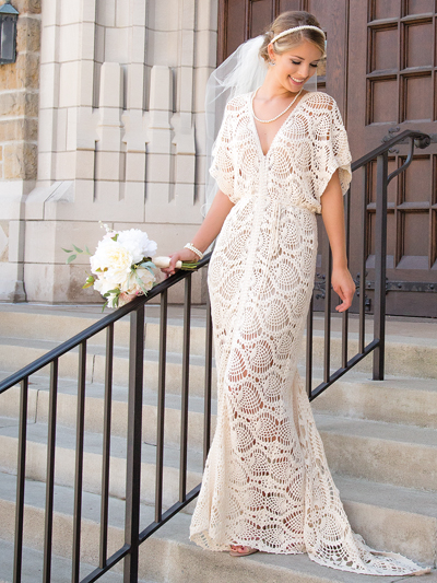 Crochet wedding dress patterns and wedding accessories to croch