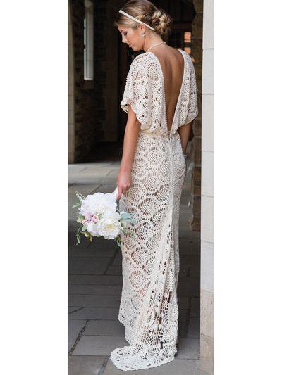 Crochet wedding dress patterns and wedding accessories to crochet .