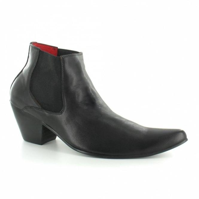 Paolo Vandini WI-Veer3 Mens Leather Cuban Heel Chelsea Boots - Bla