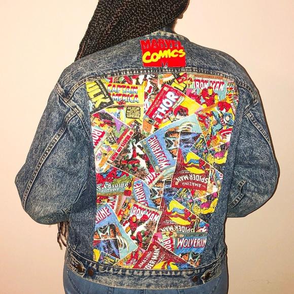 Levi's Jackets & Coats | Marvel Comics Custom Jean Jacket | Poshma