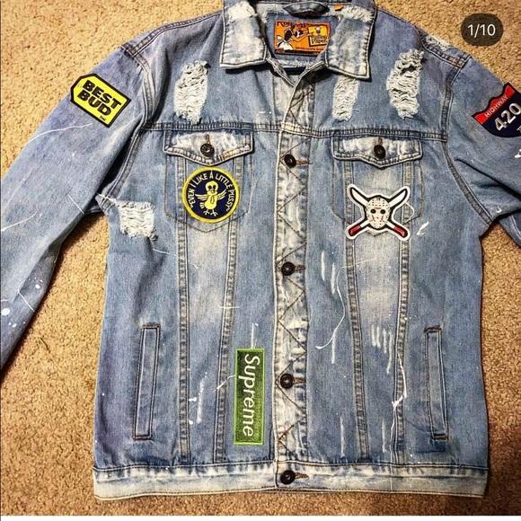 Jackets & Coats | Handmade Custom Jean Jacket | Poshma