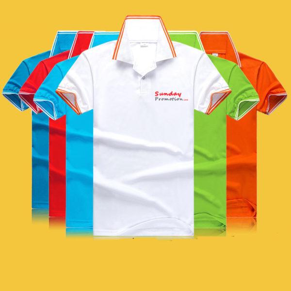 35% Cotton 7-oz White Trim Custom Polo Shirts w Lo