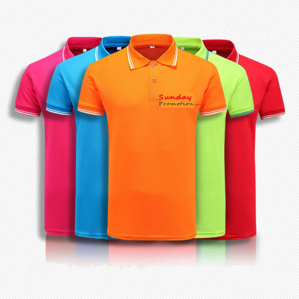 Logo Print Custom Promotional Polo Shirts 7.7-oz Ice Cott