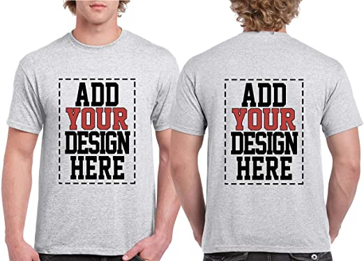 Amazon.com: Custom 2 Sided T-Shirts - Design Your OWN Shirt .