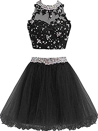 Amazon.com: XIA Women's Dress Cute Lace Prom Dress For Short Ball .