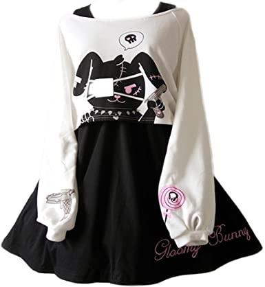 Amazon.com: Cute Dress for Teens Girl Two Piece Set Bunny Prints .