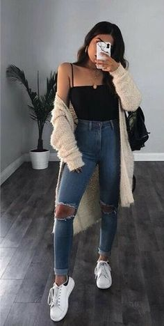 1202 Best Cute Jean outfits images in 2020 | Outfits, Cute outfits .