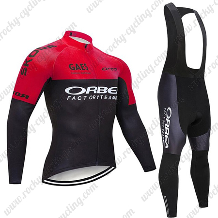 2019 Team ORBEA Cycle Clothing Riding Long Jersey and Padded Bib .