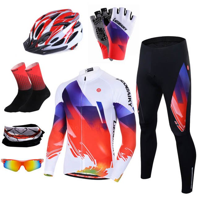 New Pro Cycle Clothing MTB Bicycle Jersey Cycling Set Men Summer .