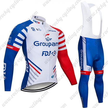2019 Team Groupama FDJ Cycle Clothing Riding Long Jersey and .