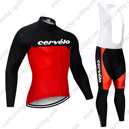 2019 Team Cervelo Cycle Clothing Riding Long Jersey and Padded Bib .