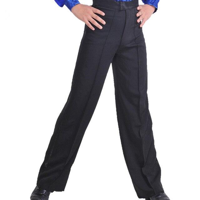 New Arrival Black color Professional mens Latin Dance Pants .