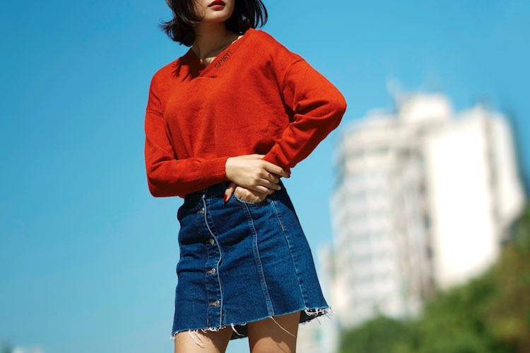 How To Wear Denim Skirts | Best Denim Skirt Outfit Ide