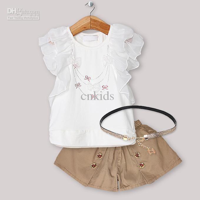 2019 Pettigirl New Designer Baby Girl Clothing Set Lace T Shirt .