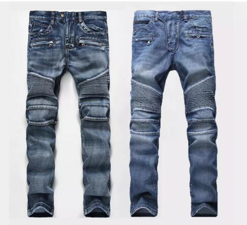 Mens jeans Men Designer jeans Distressed Motorcycle biker Rock .