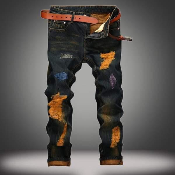 Men's Designer Jeans | Ripped Jeans Mens Fashi