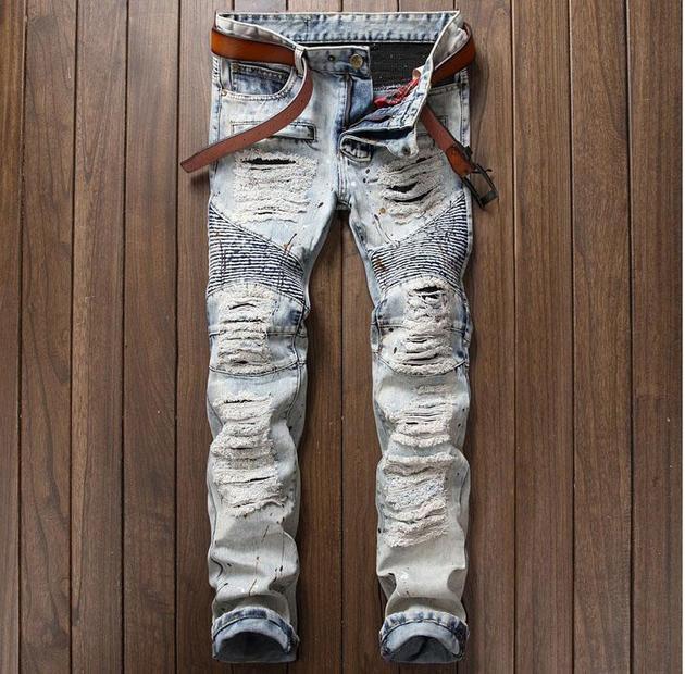 Men's Ripped Designer Jeans | TrendSettingFashio