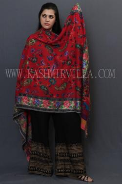 Buy Online Kani Work Shawls Red colour Designer Shawl With .