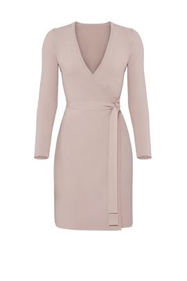 Mauve Knit Wrap Dress by Diane von Furstenberg for $70 | Rent the .