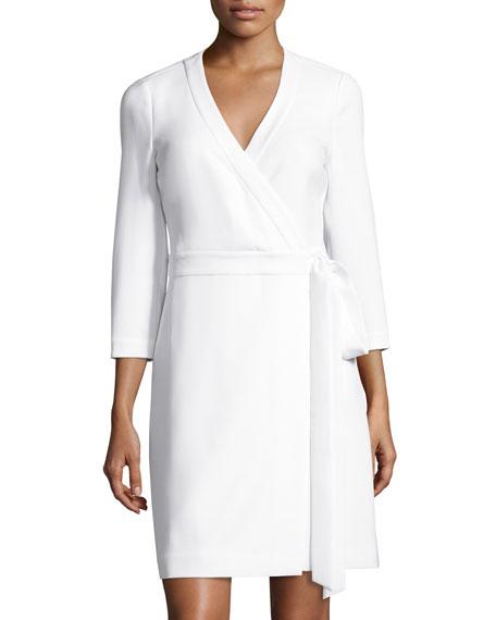 Diane von Furstenberg Taryn Solid Wrap Dress, Whi