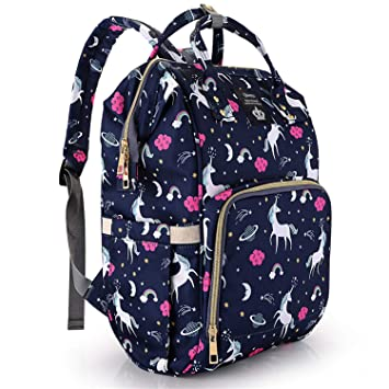 Amazon.com : Diaper Bag Backpack for Girls/Boys Unicorn Baby Nappy .