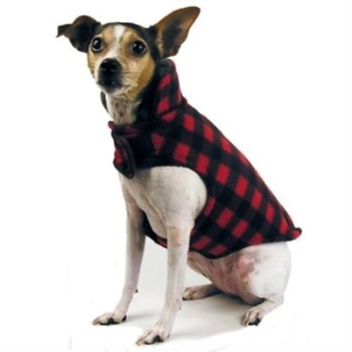 Plaid Fleece Dog Jacket-Bloomingtails Dog Boutiq