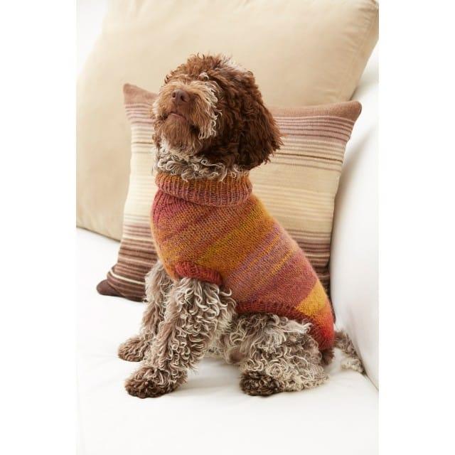 Proud Puppy Dog Sweater Pattern (Knit) - Lion Brand Ya