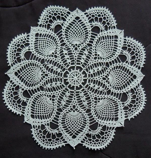 Pineapple Doily - Crochet Doily Pattern - Magic   Free crochet .