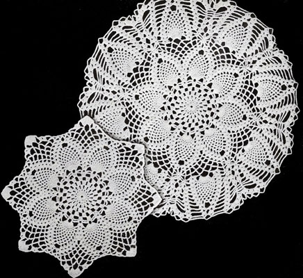 Pineapples Large and Small Doily Patterns   Crochet Patter