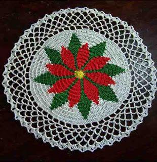 Free Crochet Christmas Doily Patterns   Vintage Christmas Doilies .