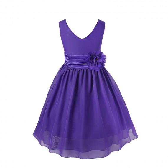 Purple Kids Bridesmaid Dress