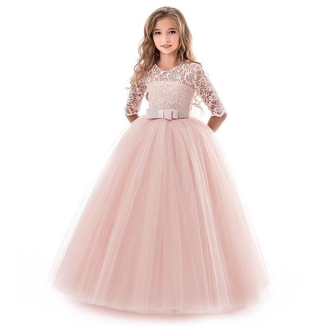 Princess Dress Kids Light Pink Color – E celebrationSh