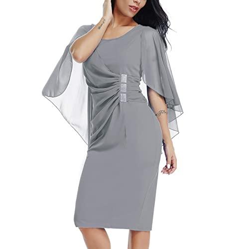 Grey Plus Size Women's Dress: Amazon.c