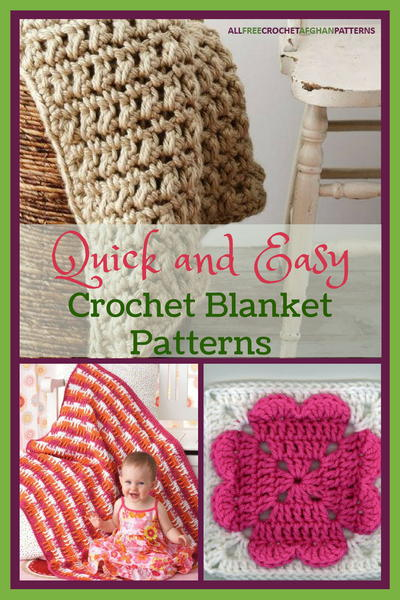 33 Quick and Easy Crochet Blanket Patterns .
