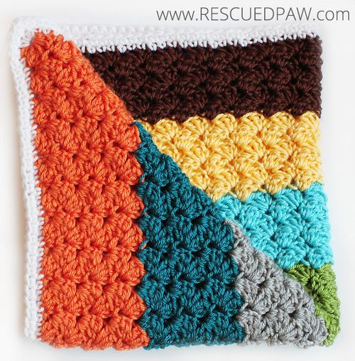Blanket Stitch Crochet Baby Blanket Pattern | Crochet blanket .