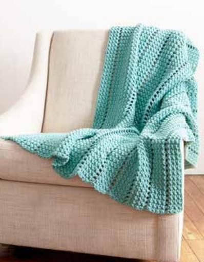 Striping Eyelets Easy Crochet Blanket Pattern .
