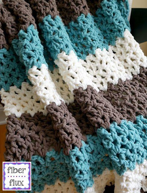 Free Crochet Pattern...Family Room Throw! | Crochet throw pattern .