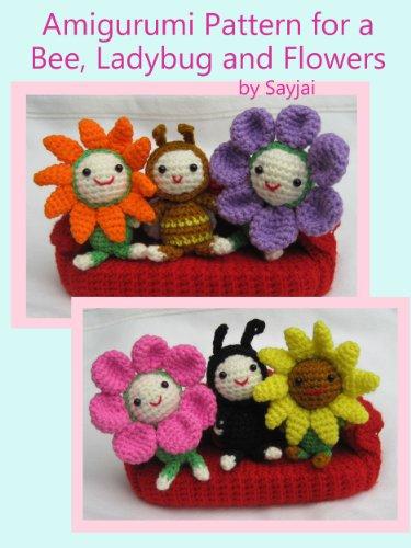 Amazon.com: Amigurumi Pattern for a Bee, Ladybug and Flowers (Easy .