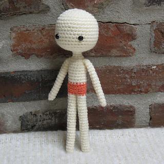 Ravelry: Amigurumi Easy Basic Doll pattern by Crochet Cute Dol