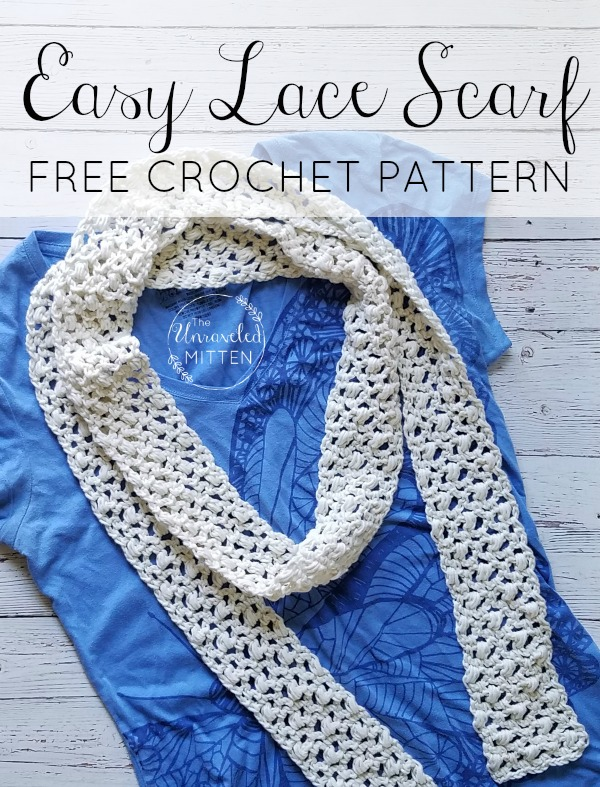 Easy Lace Scarf: Free Crochet Pattern | The Unraveled Mitt