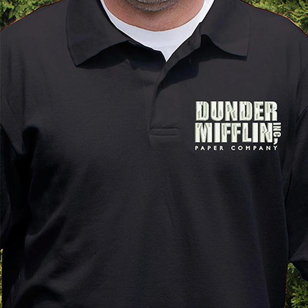 The Office Dunder Mifflin Embroidered Polo Shirt – NBC Sto