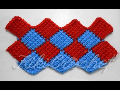 Crochet Entrelac Stitch - YouTu