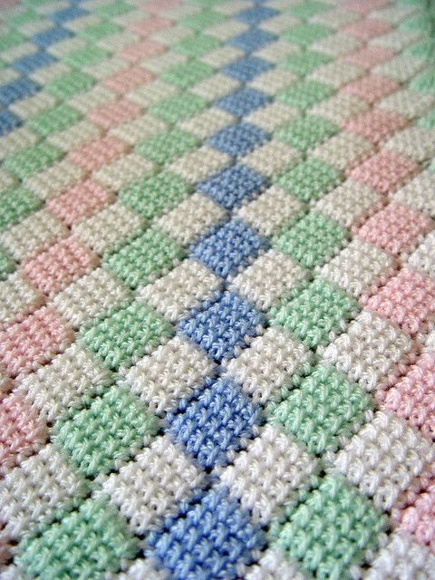 Tunisian entrelac baby afghan | Afghan crochet patterns, Baby .