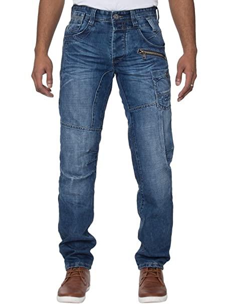 Eto Mens Jeans EM558 Mid Stonewash 30 Long: Amazon.co.uk: Clothi