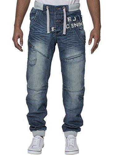 Mens Designer Eto Jeans Cuffed Leg Jogger Denim Pants Bottoms In 6 .