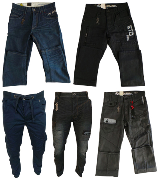 One Off Joblot of 8 Mens Eto Jeans Mixed Styles Sizes 28-