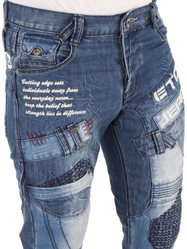 Mens Designer ETO Jeans EM 450 Straight Leg Denim Regular Fit .
