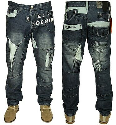 Mens Brand New ETO Jeans Latest Tapered Fit in Stone Wash Colour .