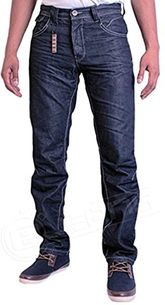 Eto Jeans 9901 EM432 Blue Dark Wash Straight Fit Designer Denim .