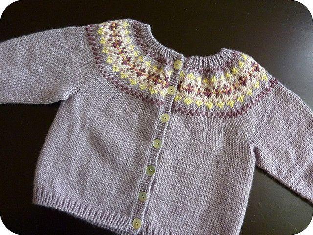 Ravelry: Beaded Fair Isle Cardigan pattern by Debbie Bliss .